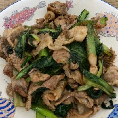 簡単に美味しくできました^ ^ 小松菜が美味しく食べれていいですね!