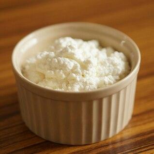 ホエーで 自家製リコッタチーズ