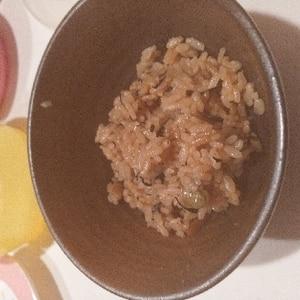 ひじきの煮物で簡単炊き込みご飯