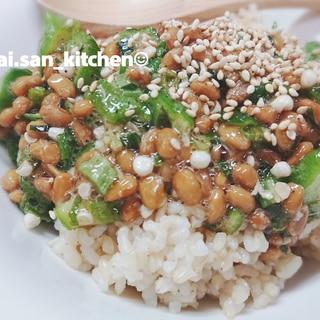 【丼】納豆オクラ 丼orパスタorおつまみ
