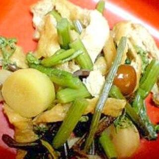 山菜と油揚げの煮物