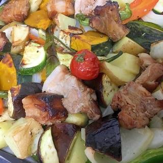 夏野菜と豚肉のぎゅうぎゅう焼き☆パーティーにも