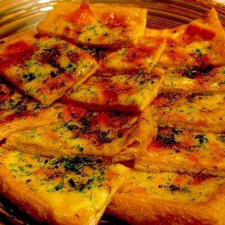簡単で美味しいおつまみ☆京あげのチーズ焼き