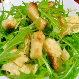 水菜と油揚げのポン酢サラダ