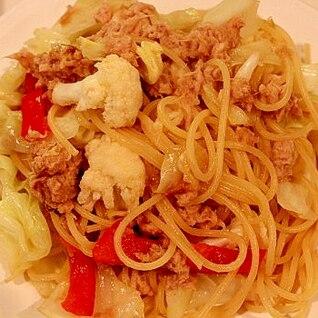 ツナとカリフラワーのスパゲッティ