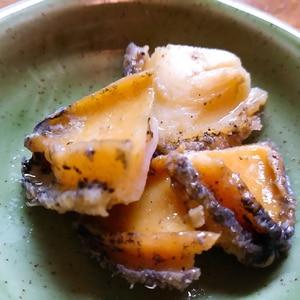 アワビのバター醤油焼き