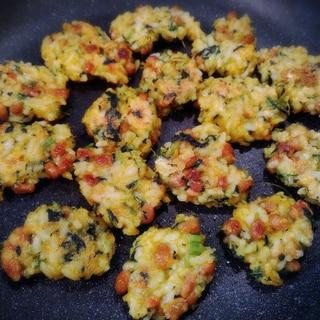 離乳食後期★手づかみ食べ★納豆ご飯とツナのおやき