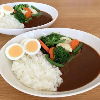 野菜カレーというか、カレーで食べる温野菜