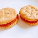 リッツ梅ジャムきな粉サンド