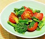 菜の花とプチトマトのサラダ