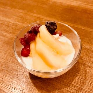 レモン果汁不要!酢で作るリンゴのコンポート