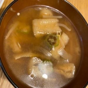オクラと玉ねぎのお味噌汁