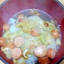 ウインナ白菜のあんかけ丼/ピリ甘