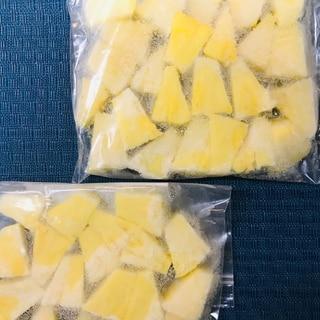 生パイナップル1/4玉冷凍