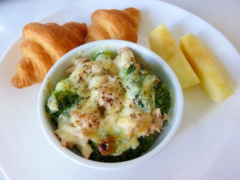 ☆ブロッコリーとツナのチーズ焼きdeワンプレート☆