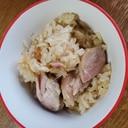 鶏ももの炊き込みもち米&ご飯
