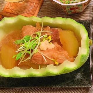 塩豚と冬瓜のコク爽ぽん酢煮込み