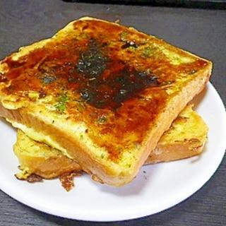 昔懐かしい!食パンお好み焼き「パン天」