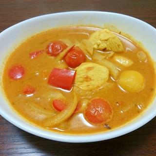 【簡単1人鍋】ダンドリーチキンのカレースープ