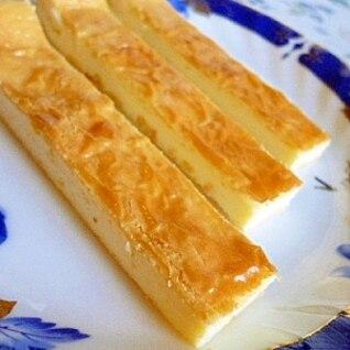 ミキサーで簡単スティックチーズケーキ