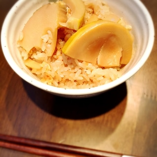 旬☆出汁から作るたけのこご飯