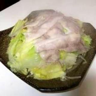 白菜と豚バラのレンジ蒸し