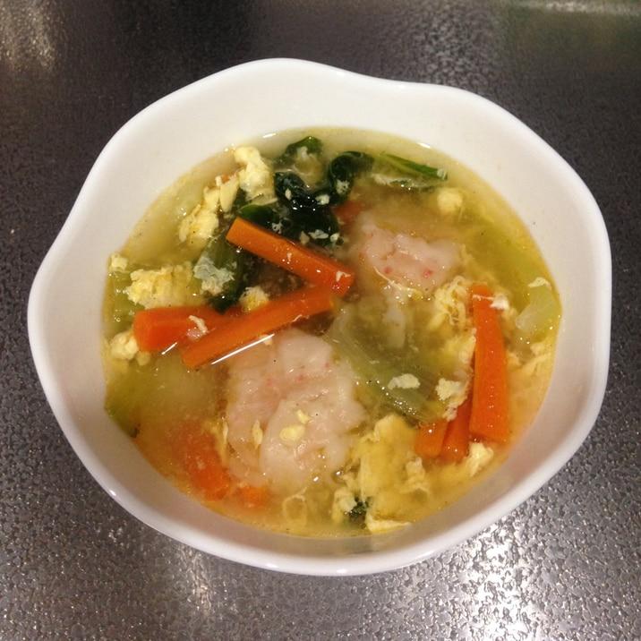 ボリューム満点!シュウマイ入り中華スープ☆