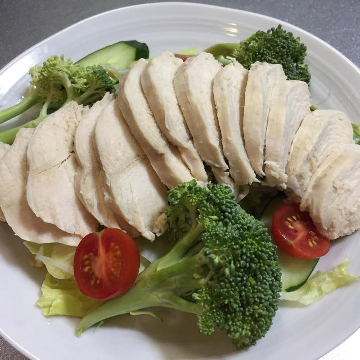肉 チキン サラダ 胸 鶏