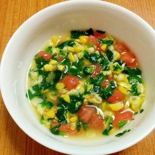 【離乳食】彩りトマトスープ