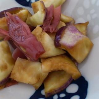 茄子と茗荷の梅酢醤油漬け