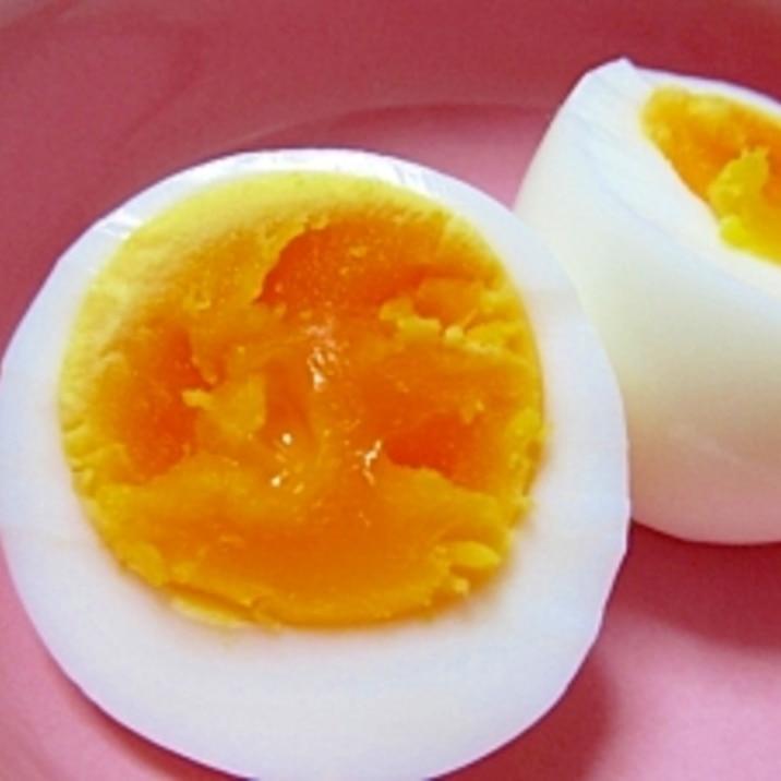 ゆで 卵 作り方 半熟