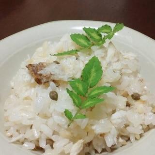 鯛と山椒の実の炊き込みご飯