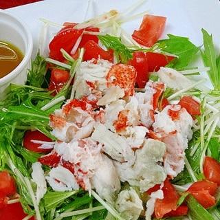 ロブスターの茹で方&「梅ドレッシングサラダ」