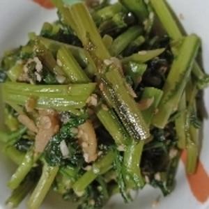 モリモリ食べられる★春菊のにんにく炒め(蒜蓉茼蒿)