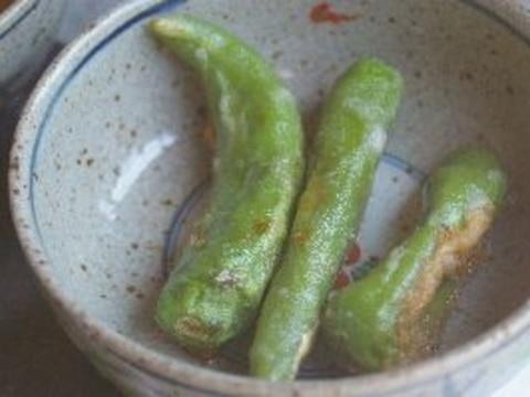 青唐辛子の米粉天ぷら
