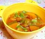 大豆とかぼちゃのみそ汁