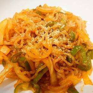 白滝ナポリタン Shirataki pasta