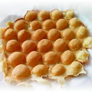 香港のエッグワッフル♪鶏蛋仔(ガイダンジャイ)