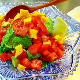 レタスとアボカドの刻みサラダ