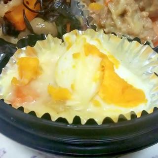簡単作りおきお弁当おかず!シチューの残り卵グラタン