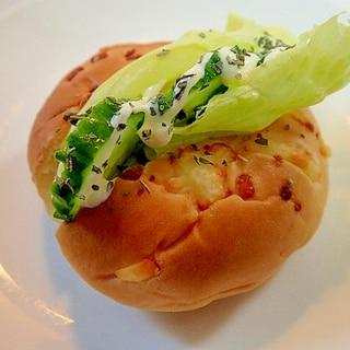 バジル/マヨで レタス&胡瓜INカレーパン