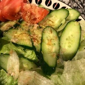 ポン酢でさっぱり!レタスと玉ねぎの和風サラダ