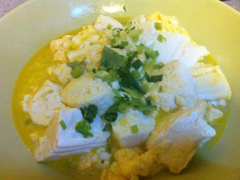 卵と豆腐のあっさり煮