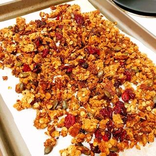 簡単ヘルシー手作りグラノーラ 朝食に最適