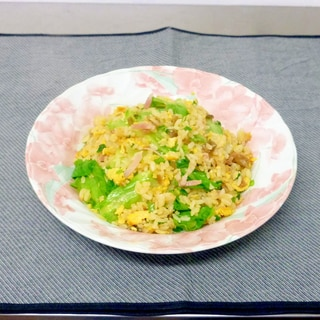 レタスとザーサイの炒飯