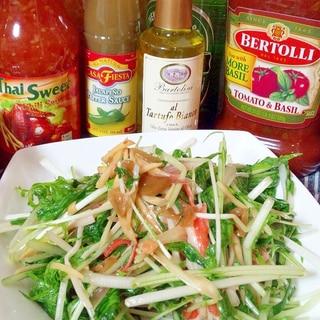 カニカマと水菜のザーサイ中華和えサラダ☆