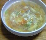 野菜ときのこの卵とじ中華スープ