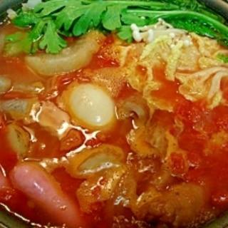 おでん→トマト鍋