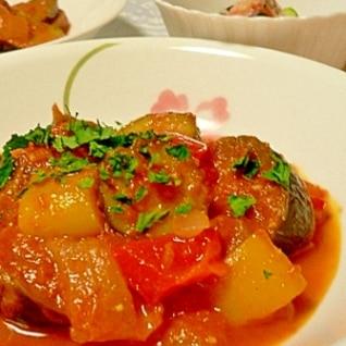 フレッシュトマトで作る、鍋一つのラタトゥイユ