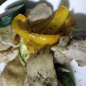 どっさり野菜とチキンのオーブン焼き